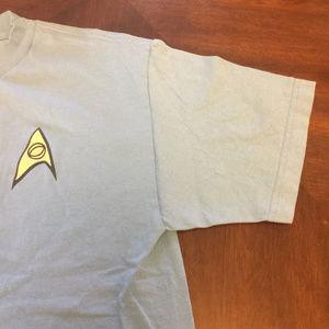 Star Trek Shirts - Star Trek Blue Science Uniform Shirt Medium